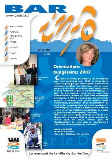 Orientations budgétaires 2007 - Bar-le-Duc