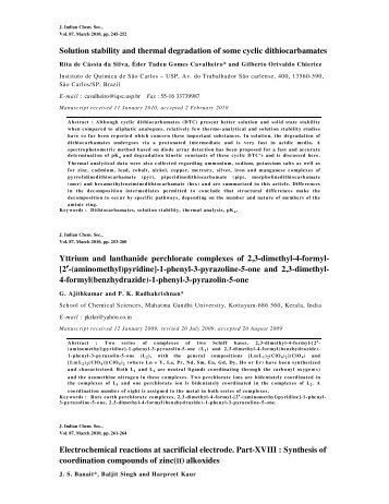 Abstracts of Journal of Indian Chemical Society Vol.87, March 2010 ...