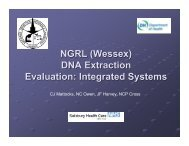 Evaluation of integrated systems for DNA extraction.