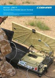 Microsat - µSat-7X Tactical X-Band Mobile Satcom Terminal