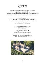 Formation continue Prangins 2011 - Société Vaudoise de Médecine