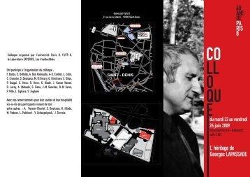 LAPASSADE BAT 23 JUIN:Mise en page 1 - Université Paris 8