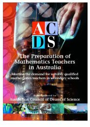 The preparation of Mathematics Teachers in Australia - ACDS