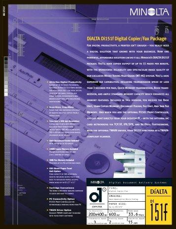 DiALTA Di151f Digital Copier/Fax Package - A Matter of Fax
