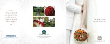 """The perfect venue for your perfect day """"It's yourday and you can ..."""