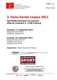 3. Swiss Karate League 2011