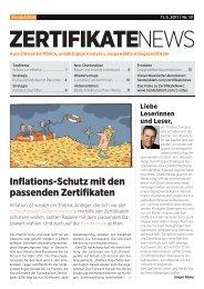 Inflations-Schutz mit den passenden Zertifikaten - Handelsblatt