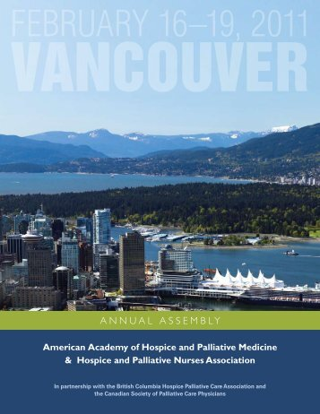 annual assembly - American Academy of Hospice and Palliative ...