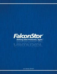 FalconStor Software Annual Report 2010