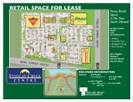 RETAIL SPACE FOR LEASE - Taggart Realty Management