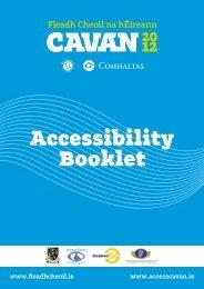 Accessibility Event Guide - Fleadh Cheoil na hÉireann 2012
