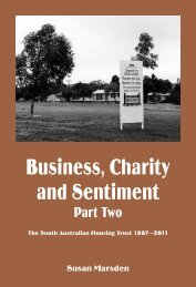 Business, Charity and Sentiment Pt 2 - Wakefield Press