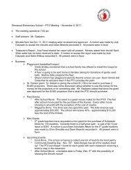 Glenwood Elementary School – PTO Meeting – Sept - Glenwood PTO