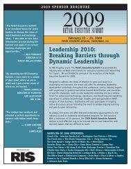 Leadership 2010: Breaking Barriers through Dynamic ... - RIS News