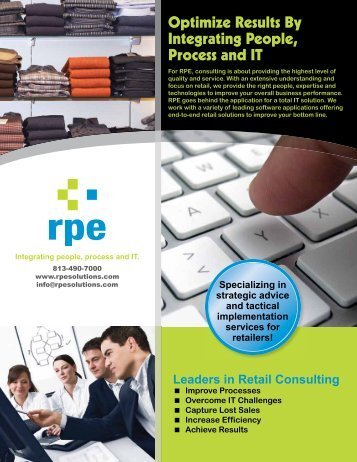 Optimize Results By Integrating People, Process and IT - RIS News