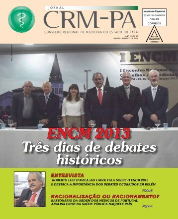 ENCM 2013 Três dias de debates históricos - Conselho Regional ...