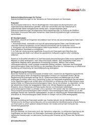 Vorschlag Gestaltung Datenschutzerklärung für den Betreiber der ...