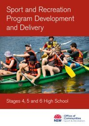 Sport and Recreation Program Development and Delivery: Stages 4