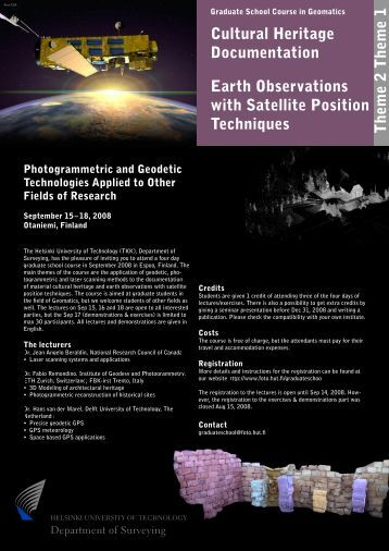 Cultural Heritage Documentation Earth Observations with Satellite ...