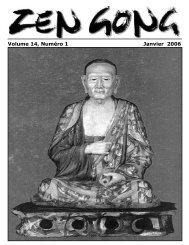 Volume 14, Numéro 1 Janvier 2006 - Montreal Zen Center
