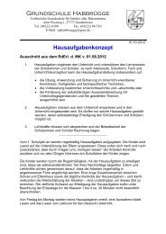 Hausaufgabenkonzept - Verlässliche Grundschule Habbrügge