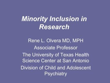 Minority Inclusion in Research - Hogg Foundation for Mental Health
