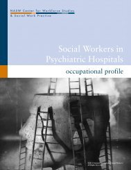 Social Workers in Psychiatric Hospitals - Center for Workforce ...