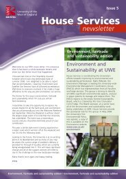 Read our latest Newsletter - University of the West of England