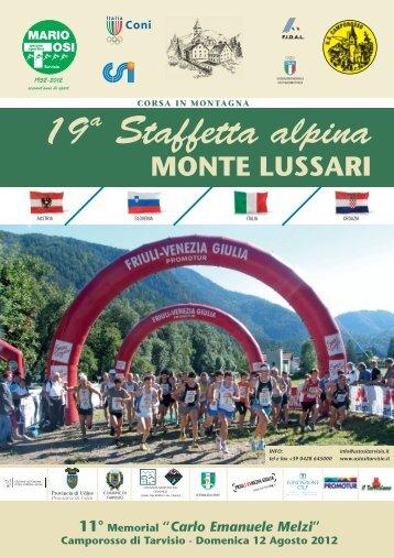 19 a Staffetta alpina MONTE LUSSARI - ustositarvisio.it