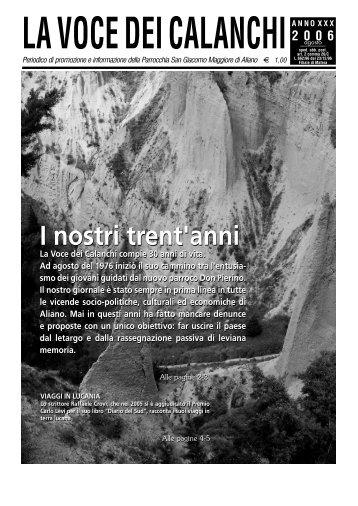 la voce dei calanchi (agosto 2006) - Basilicatanet.it - Regione ...