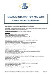 Medical Research for and with Older People in Europe - European ...