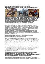 Lehrgang Reitpädagogische Betreuung der Landwirtschaftskammer ...