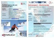 Schneesport-Wochenende mit Skitest - Turnverband Bern Mittelland
