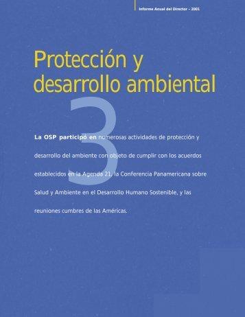 Protección y desarrollo ambiental - PAHO Publications Catalog