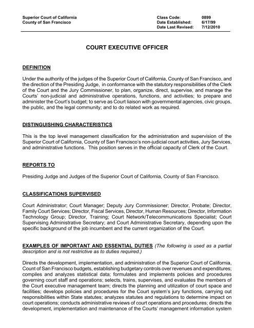 899 - Superior Court of California
