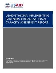 Implementing Partners' Organizational Capacity Assessment Report