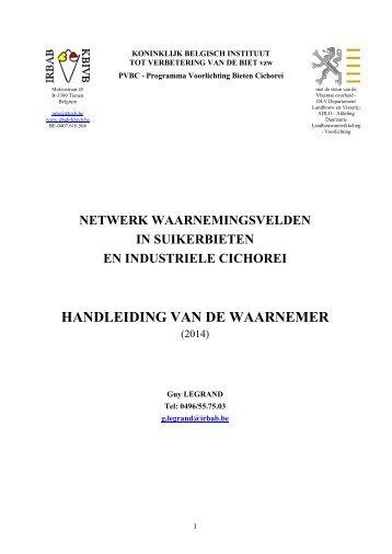 Handleiding van de waarnemer - Koninklijk Belgisch Instituut tot ...