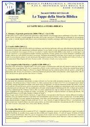 Le Tappe della Storia Biblica - Sanfrancescoviterbo.it