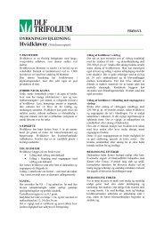 DYRKNINGSVEJLEDNING - DLF-TRIFOLIUM Denmark