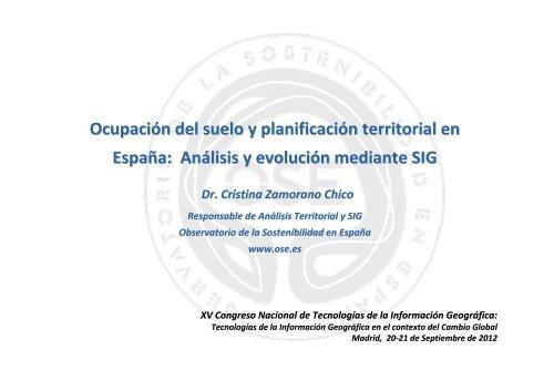 Ocupación del suelo y planificación territorial en España - Consejo ...
