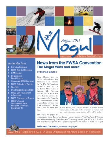 The Mogul: August 2011 - Bogus Basin Ski Club