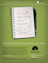 Fact Sheet - City of Elk Grove