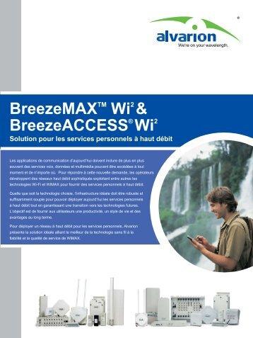 Télécharger la datasheet du BreezeMAX Wi2 et ... - CB Networks