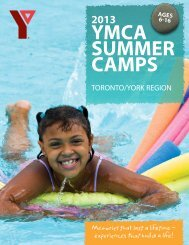 2013 Toronto/York Brochure - YMCA of Greater Toronto