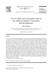 Use of saline and non-potable water in the turfgrass industry ...
