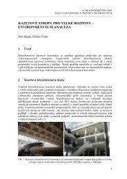 kazetové stropy pro velké rozpony – environmentální ... - Ctislav Fiala