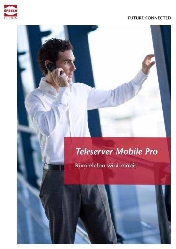 Prospekt Teleserver Mobile Pro - SPEECH DESIGN