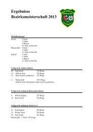 Bezirksmeisterschaft 2013 - Schützenverein SVM Zeltingen
