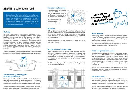 Adaptil brochure