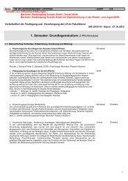 Inhalte von Lehrveranstaltungen - Hochschule Landshut